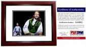 Lin-Manuel Miranda Signed - Autographed HAMILTON as Alexander Hamilton Broadway 8x10 inch Photo MAHOGANY CUSTOM FRAME - Lin Manuel Miranda - with PSA/DNA Certificate of Authenticity (COA)