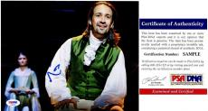 Lin-Manuel Miranda Signed - Autographed HAMILTON as Alexander Hamilton Broadway 8x10 inch Photo with PSA/DNA Certificate of Authenticity (COA) - Lin Manuel Miranda -