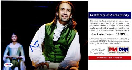Lin-Manuel Miranda Signed - Autographed HAMILTON as Alexander Hamilton Broadway 8x10 inch Photo with PSA/DNA Certificate of Authenticity (COA) - Lin Manuel Miranda -