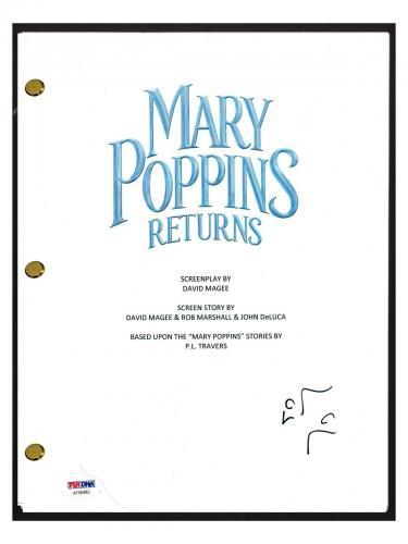 Lin-Manuel Miranda Signed Autographed MARY POPPINS RETURNS Script PSA/DNA COA