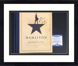 Lin Manuel Miranda Signed Hamilton Hard Cover Book Authentic Autograph Beckett