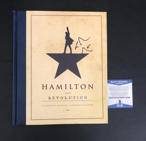 Lin Manuel Miranda Signed Hamilton Hard Cover Book Authentic Autograph Beckett