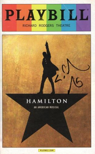 Lin Manuel Miranda Signed Hamilton Playbill Autograph Pride Broadway Coa