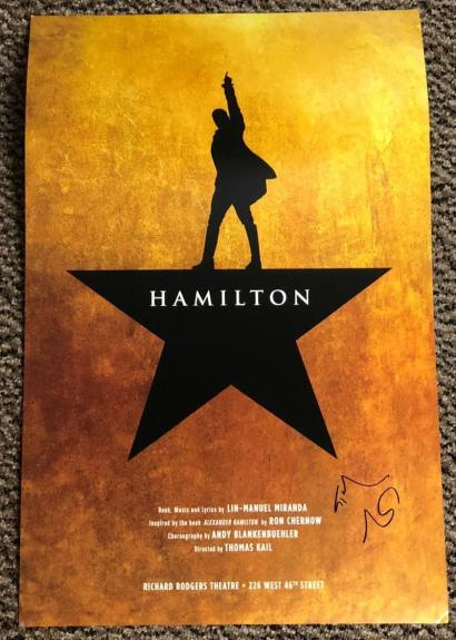 Lin Manuel Miranda Signed Hamilton Window Card Broadway Autograph Proof Coa