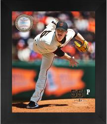"Tim Lincecum San Francisco Giants Framed 20"" x 24"" Gamebreaker Photograph with Game-Used Ball"