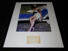 Linda Christian Signed Framed 16x20 Photo Poster Display Casino Royale Bond Girl