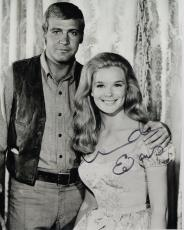 LINDA EVANS HAND SIGNED 8x10 PHOTO+COA           BIG VALLEY WITH LEE MAJORS