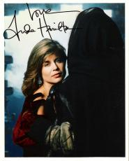 "LINDA HAMILTON - Best Known for her Portrayal of SARAH CONNOR in ""THE TERMINATOR"" and ""TERMINATOR 2"" Signed 8x10 Color Photo"