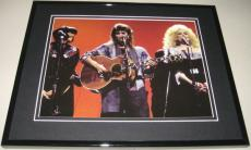 Linda Ronstadt Dolly Parton Emmylou Harris 1986 CMA Awards Framed 8x10 Photo