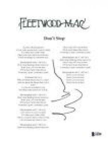 Lindsey Buckingham Signed Autograph Fleetwood Mac DON'T STOP Lyric Sheet BAS COA