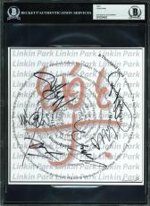 Linkin Park (6) Bennington,  Bourdon, Shinoda +3 Signed Art Print BAS Slabbed