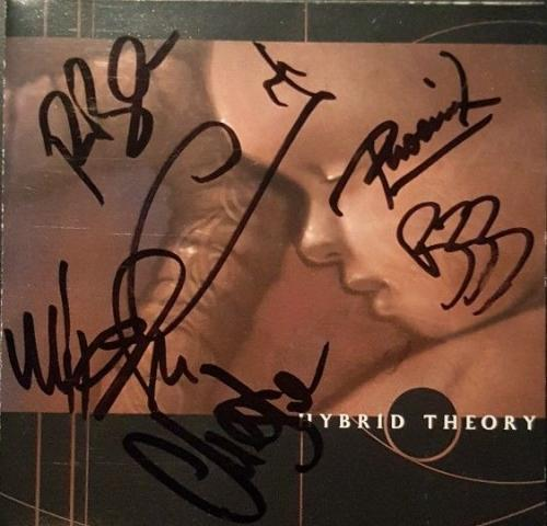 Linkin Park Chester Bennington Band Signed Autographed Hybrid Theory CD PSA/DNA