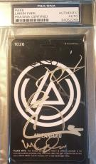Linkin Park Chester Bennington Band Signed Backstage Pass PSA/DNA AUTHENTIC