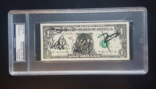 Linkin Park Chester Bennington Signed Autographed Dollar Bill PSA/DNA AUTHENTIC