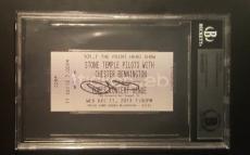 Linkin Park Chester Bennington Signed Autographed STP Ticket Stub BAS AUTHENTIC