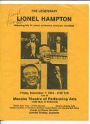 Lionel Hampton Jazz Big Band Leader Pianist Signed Autograph Concert Flyer Photo