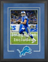 Detroit Lions Deluxe 16'' x 20'' Vertical Photograph Frame with Team Logo - Mounted Memories
