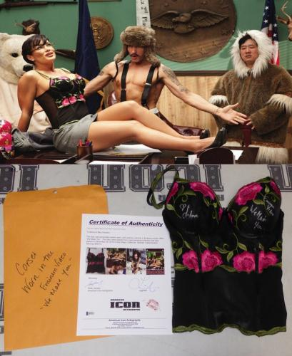 Lisa Ann Signed Personally Worn Corset Used in Eminem Music Video BAS COA w Kiss