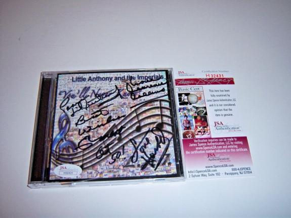 Little Anthony And The Imperials Jsa/coa Signed Cd