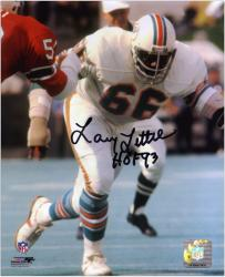 Larry Little Miami Dolphins Autographed 8'' x 10'' Action Photograph with HOF 93 Inscription - Mounted Memories
