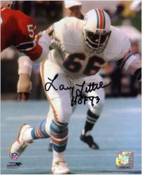 "Larry Little Miami Dolphins Autographed 8"" x 10"" Action Photograph with HOF 93 Inscription"