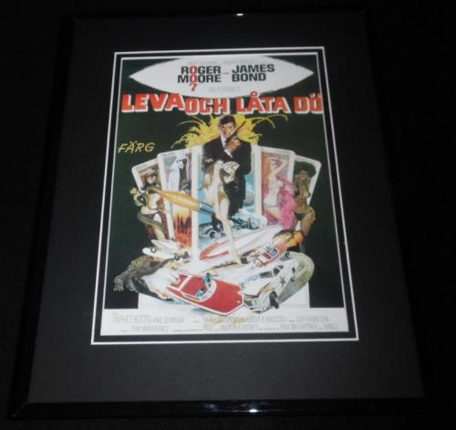 Live and Let Die Swedish Framed 11x14 Repro Poster Display Roger Moore