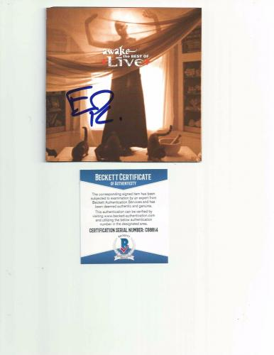 "LIVE ED KOWALCZYK signed autographed ""AWAKE: BEST OF"" CD BOOKLET BECKETT COA"
