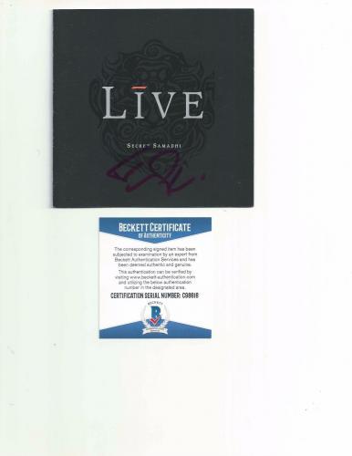 "LIVE ED KOWALCZYK signed autographed ""SECRET SAMADHI"" CD BOOKLET BECKETT COA"