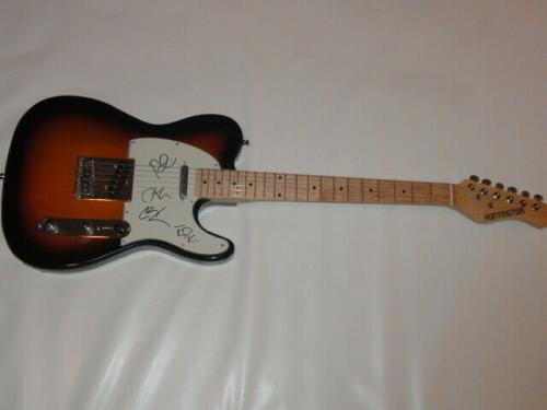 Live The Band Signed Sunburst Electric Guitar Ed Kowalczyk All 4 Proof Jsa Coa