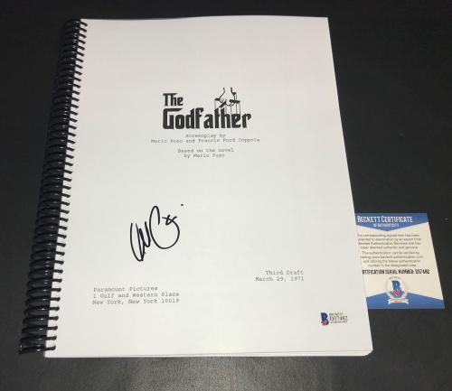 L@@k Al Pacino Signed Autographed The Godfather Full Script Beckett Bas Coa 3