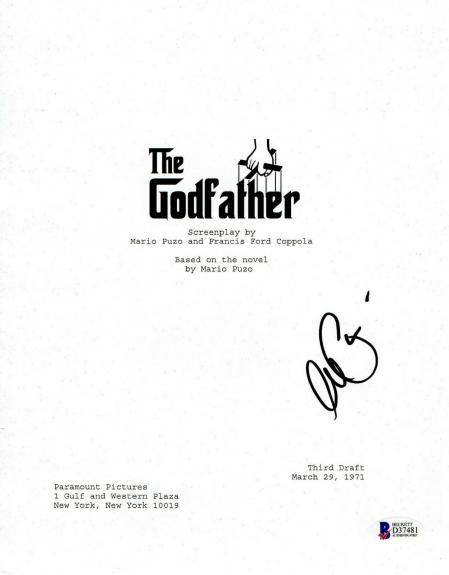 L@@k Al Pacino Signed Autographed The Godfather Full Script Beckett Bas Coa 4