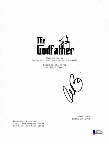 L@@k Al Pacino Signed Autographed The Godfather Full Script Beckett Bas Coa 5