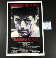 L@@k Robert De Niro Signed Auto 12x18 Raging Bull Movie Poster Bas Coa Beckett 2
