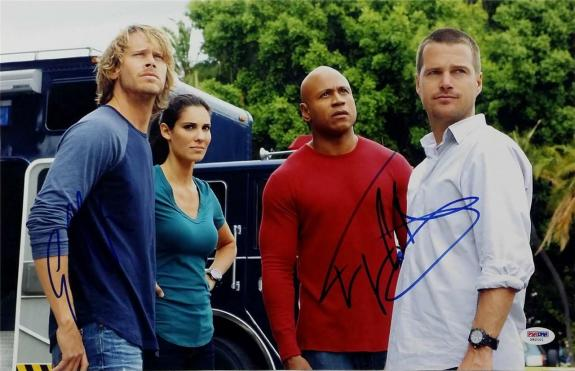LL Cool J Eric Christian Olsen Signed NCIS Los Angeles 11x17 Photo PSA X82101