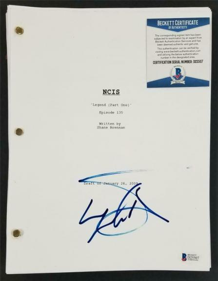 LL COOL J signed NCIS Episode 135 Full TV Script Autograph ~ Beckett BAS COA