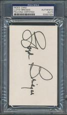 Lloyd Bridges Index Card PSA/DNA Certified Authentic Auto Autograph Signed *7564