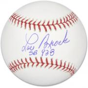 Lou Brock Autographed Baseball with 938 SB Inscription