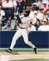 Kenny Lofton Atlanta Braves Autographed 8'' x 10'' Post Swing Photograph
