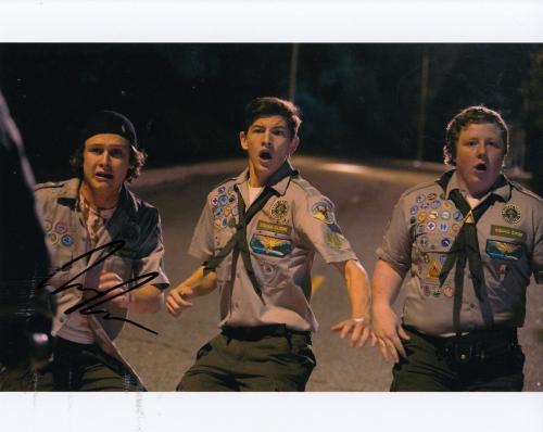 LOGAN MILLER signed *Scouts Guide to the Zombie Apocalypse* 8X10 PROOF W/COA #2