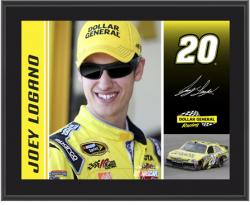 Joey Logano 2012 Dollar General Sublimated 10.5'' x 13'' Player Photo Plaque - Mounted Memories