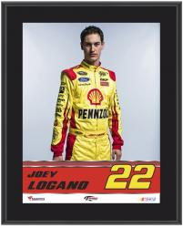 "Joey Logano Sublimated 10.5"" x 13"" Plaque - Mounted Memories"