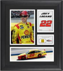 Joey Logano Framed 15'' x 17'' Collage with Race-Used Tire - Mounted Memories