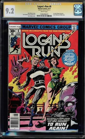Logan's Run #6 Cgc 9.2 White Pages Ss Stan Lee 1st Solo Thanos Story #1206496021