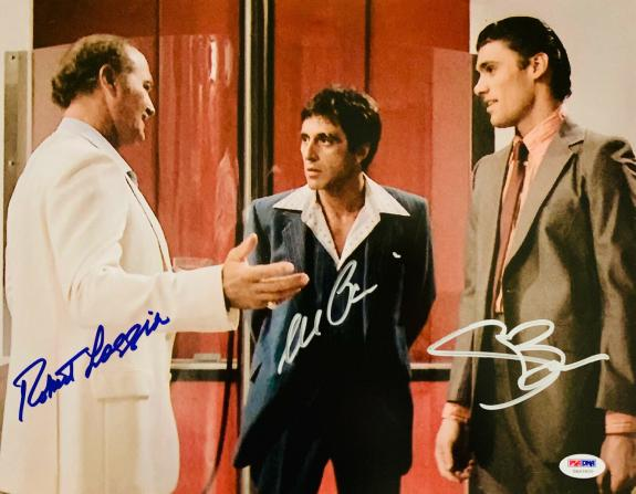 Loggia, Bauer and Al Pacino Autographed 11x14 Scarface Photo - PSA/DNA