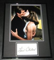 Lois Chiles Signed Framed 11x14 Photo Display Moonraker w/ Roger Moore