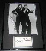 Lois Chiles Signed Framed 11x14 Photo Poster Display Moonraker w/ Roger Moore