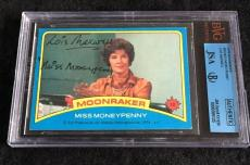 Lois Maxwell Signed 1979 James Bond Moonraker Card Autograph Jsa/bvs Bgs