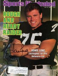 Howie Long Oakland Raiders Autographed Sports Illustrated Magazine - Mounted Memories