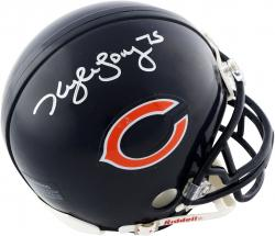Kyle Long Chicago Bears Autographed Riddell Mini Helmet - Mounted Memories