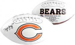 Kyle Long Chicago Bears Autographed White Panel Football - Mounted Memories